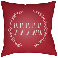 Surya HDY022-2020 Falalalala 20 X 20 inch Red and White Outdoor Throw Pillow photo thumbnail