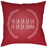 Surya HDY022-2020 Falalalala 20 X 20 inch Red and White Outdoor Throw Pillow alternative photo thumbnail