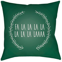 Surya HDY023-2020 Falalalala 20 X 20 inch Green and White Outdoor Throw Pillow photo thumbnail