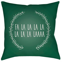 Surya HDY023-2020 Falalalala 20 X 20 inch Green and White Outdoor Throw Pillow alternative photo thumbnail