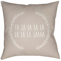 Surya HDY025-2020 Falalalala 20 X 20 inch Beige and White Outdoor Throw Pillow photo thumbnail