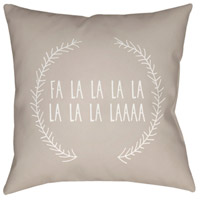 Surya HDY025-2020 Falalalala 20 X 20 inch Beige and White Outdoor Throw Pillow alternative photo thumbnail