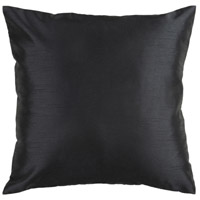 Solid Luxe 18 X 18 inch Black Pillow Cover