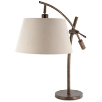 Surya HSO-001 Harrison 29 inch 100 watt Ivory Table Lamp Portable Light
