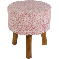 Surya INDO001-161616 Indore Bright Pink/White Furniture Cube