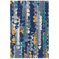Inman 90 X 60 inch Blue and Blue Area Rug, Wool