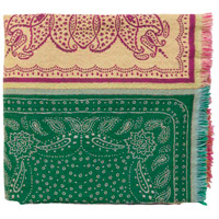 Indira 60 X 50 inch Pink and Green Throw