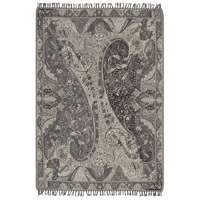 Surya IRI1003-5070 Indira 60 X 50 inch Grey and Grey Throw