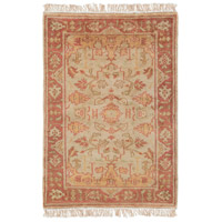 Adana 36 X 24 inch Brown and Red Area Rug, Wool