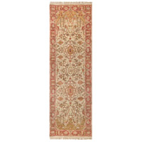 Adana 96 X 30 inch Brown and Red Runner, Wool