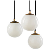 Surya White Glass Pendants