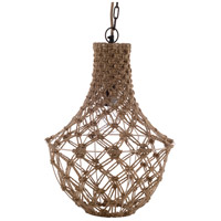 Surya KAY-001 Kaylee 1 Light 14 inch Natural and Off-White Pendant Ceiling Light