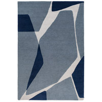 Kennedy 120 X 96 inch Blue and Blue Area Rug, Wool