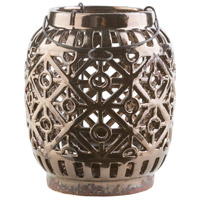 Killian 6 X 6 inch Black and Brown Outdoor Decorative Lantern