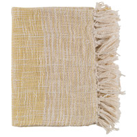 Kymani 60 X 50 inch Yellow and Off-White Throw