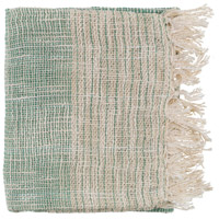 Kymani 60 X 50 inch Green and Off-White Throw