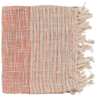 Kymani 60 X 50 inch Orange and Off-White Throw