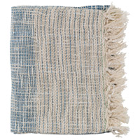 Surya KMN2003-5060 Kymani 60 X 50 inch Navy and Off-White Throw