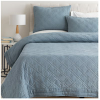 Kojo Navy and White Quilt Set, Full or Queen