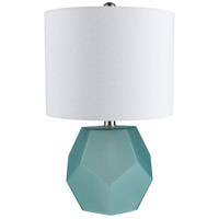 Surya KYS-002 Kelsey 17 inch 40 watt Sky Blue Table Lamp Portable Light