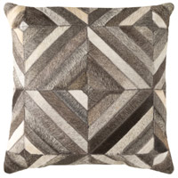 Lycaon 18 X 18 inch White and Dark Brown Pillow Cover
