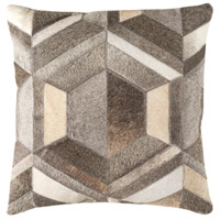 Lycaon 18 X 18 inch Medium Gray and Dark Brown Pillow Cover