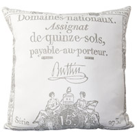 Surya LG508-2222P Montpellier 22 X 22 inch Cream and Charcoal Throw Pillow photo thumbnail