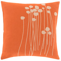 Abo 18 X 18 inch Orange and Beige Pillow Cover