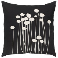 Abo 18 X 18 inch Black Pillow Cover, Square