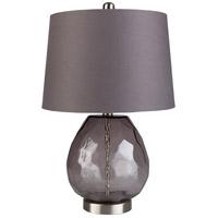 Surya LKR-001 Larkspur 22 inch 100 watt Dark Purple Table Lamp Portable Light