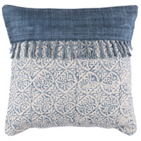 Surya LL005-2020 Lola 20 X 20 inch Off-White and Navy Pillow Cover