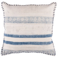 Surya LL006-2020 Lola 20 X 20 inch Off-White and Navy Pillow Cover