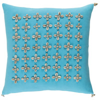 Surya LLI001-1818 Lelei 18 X 18 inch Blue and Off-White Pillow Cover