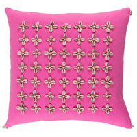 Surya LLI002-1818 Lelei 18 X 18 inch Pink and Off-White Pillow Cover