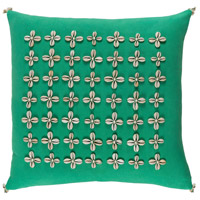 Surya LLI004-1818 Lelei 18 X 18 inch Green and Off-White Pillow Cover