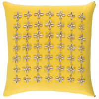 Surya LLI005-1818 Lelei 18 X 18 inch Yellow and Off-White Pillow Cover