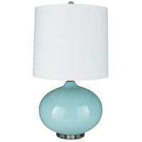 Surya LMP-1076 Colt 32 inch 100 watt Pale Blue Table Lamp Portable Light