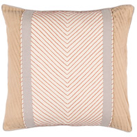 Surya LN001-1818 Leona 18 X 18 inch Beige and Tan Pillow Cover