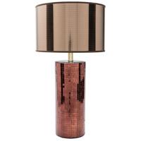 Surya LNL100-TBL Linnell 27 inch 100 watt Copper Table Lamp Portable Light