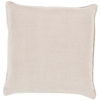 Surya LP008-1818 Linen Piped 18 X 18 inch Off-White and Off-White Pillow Cover