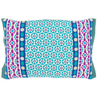 Surya LUE001-1319 Lucent 19 X 13 inch White and Blue Pillow Cover