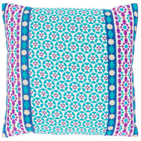 Surya LUE001-1818 Lucent 18 X 18 inch White and Blue Pillow Cover