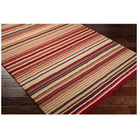 Surya M102-811 Mystique 132 X 96 inch Red and Orange Area Rug, Wool alternative photo thumbnail