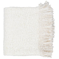Surya MAD1001-5060 Madurai 60 X 50 inch White and Beige Throw