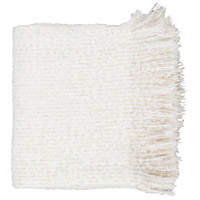 Madurai 60 X 50 inch White and Beige Throw