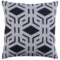 Surya MBK001-2222 Millbrook 22 X 22 inch Black and Grey Pillow Cover photo thumbnail