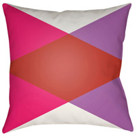 Surya MD003-1818 Moderne 18 X 18 inch White and Red Outdoor Throw Pillow photo thumbnail