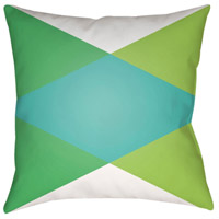 Surya MD004-1818 Moderne 18 X 18 inch White and Green Outdoor Throw Pillow photo thumbnail