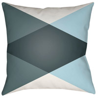 Surya MD008-2020 Moderne 20 X 20 inch White and Blue Outdoor Throw Pillow alternative photo thumbnail