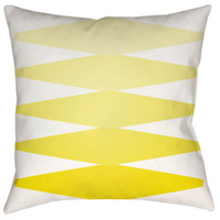 Surya MD011-2020 Moderne 20 X 20 inch Yellow and White Outdoor Throw Pillow alternative photo thumbnail